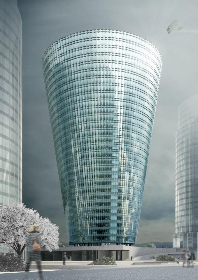 Souto Moura Arquitectos . dos torres de oficinas . Zhenzhou (1)